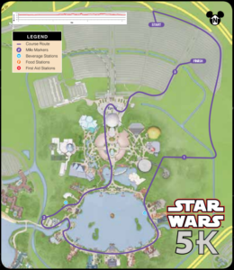Star Wars Dark Side 5k Course through Epcot