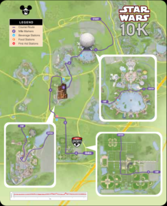 Star Wars Dark Side 10k Course Map