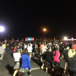 Half Marathon Staging area in Epcot Parking Lot