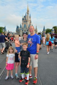 Enjoying the Magic Kingdom after the 5k